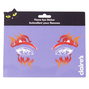 Fire Eyes Face Stickers - Orange,