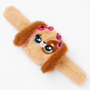 Puppy Slap Wristlet - Brown,