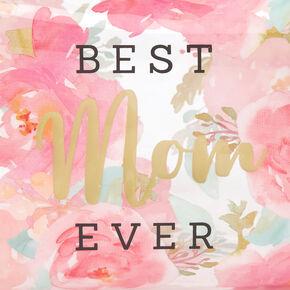 Best Mom Ever Floral Roses Makeup Bag - Pink,
