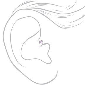 Boucles d'oreilles tragus interchangeables en strass pastel couleur argentée - Lot de 5,