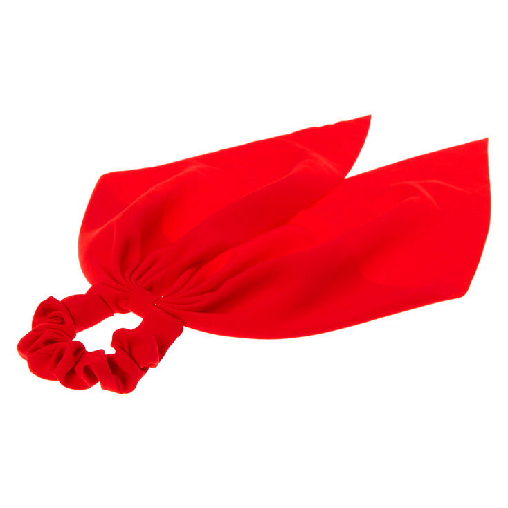 Small Hair Scrunchie Scarf - Red,