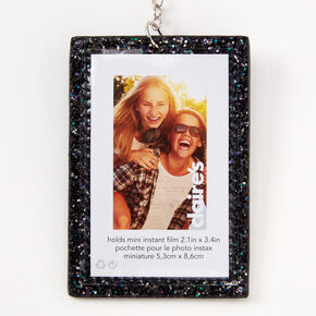 Glitter Instax Photo Keychain - Black,
