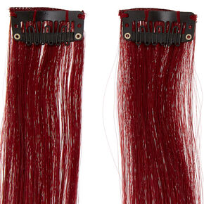 Ombre Faux Hair Extensions - Magenta, 2 Pack,