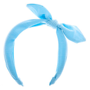 Knotted Bow Headband - Blue,