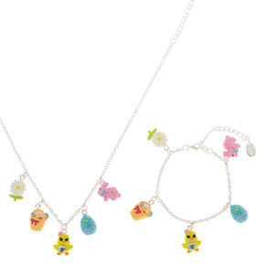 Silver Easter Charm Jewelry Set - 2 Pack,