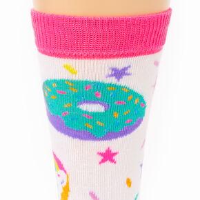 Rainbow Donut Crew Socks,
