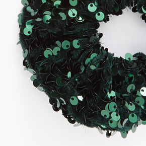 Medium Emerald Green Sequin Scrunchie,