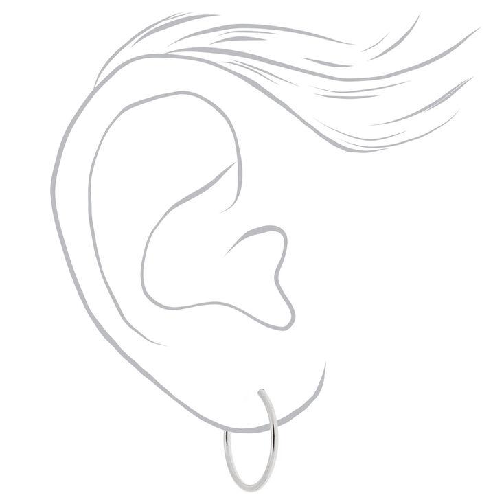 Silver Mini Hoop Earrings - 10MM, 12MM, 15MM,