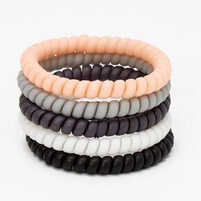 Élastiques spirale fins style ballet - Lot de 5,