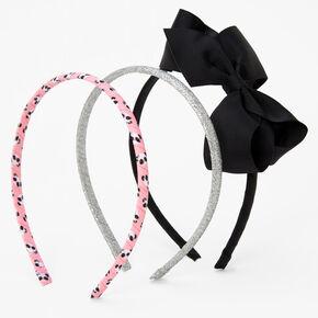 Claire's Club Panda Print Headband Set - 3 Pack,