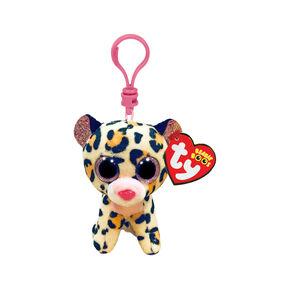 Ty® Beanie Boo Livvie the Leopard Keyring Clip,