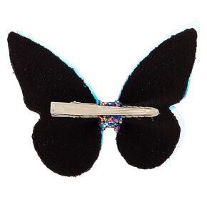 Barrettes papillon à paillettes holographiques,