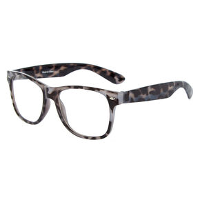 Go to Product: Tortoiseshell Retro Clear Lens Frames - Grey from Claires