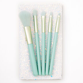 Mint Green Makeup Brush Set - 5 Pack,