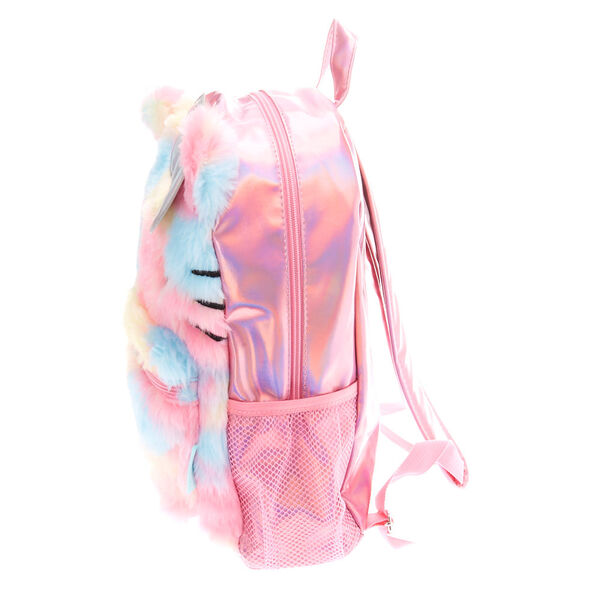 Claire's - hello kitty furry pastel rainbow holographic backpack - 2