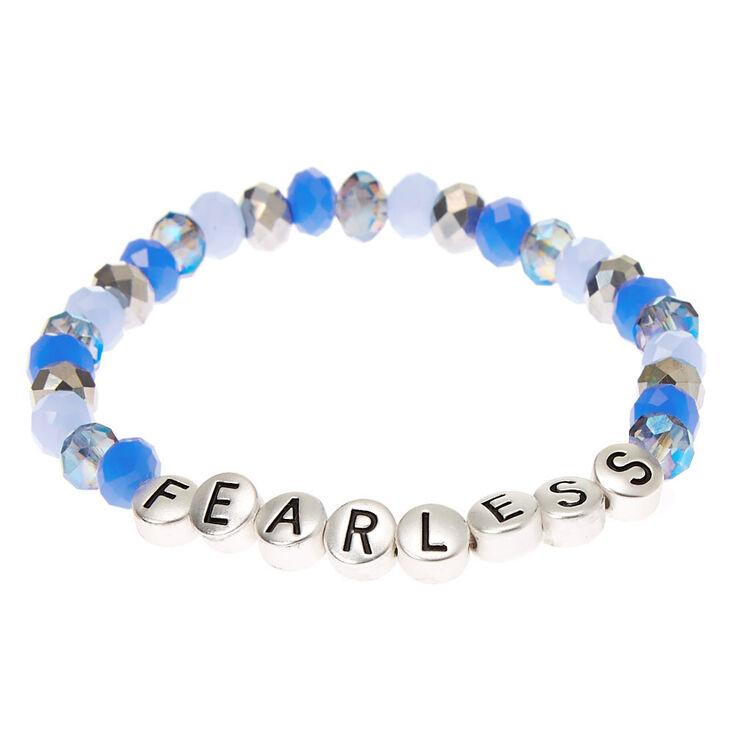 Fearless Beaded Stretch Bracelet - Blue,