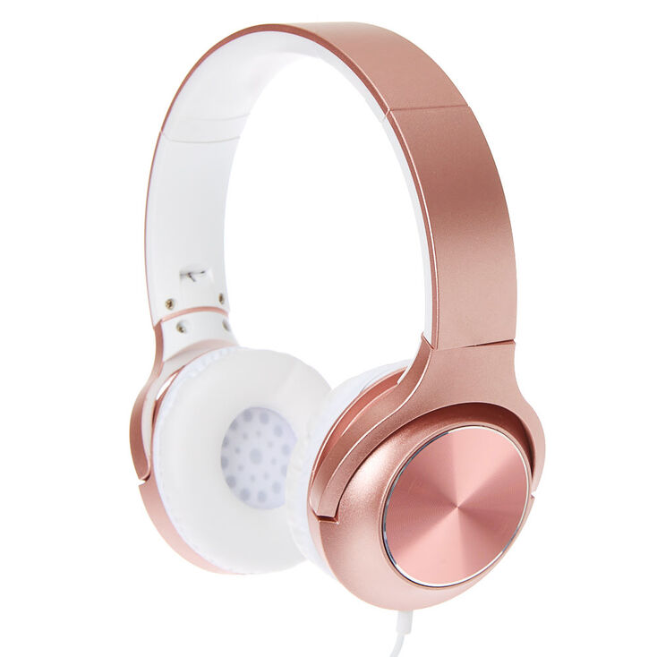Metallic Headphones - Rose Gold,