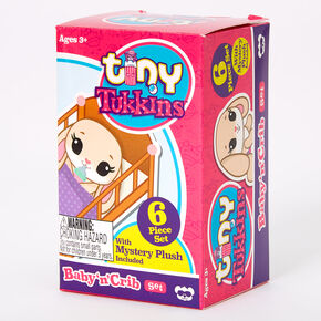 Tiny Tukkins™ Baby 'n' Crib Mystery Plush Set - Styles May Vary,