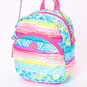 Tropical Aztec Mini Backpack Crossbody Bag,