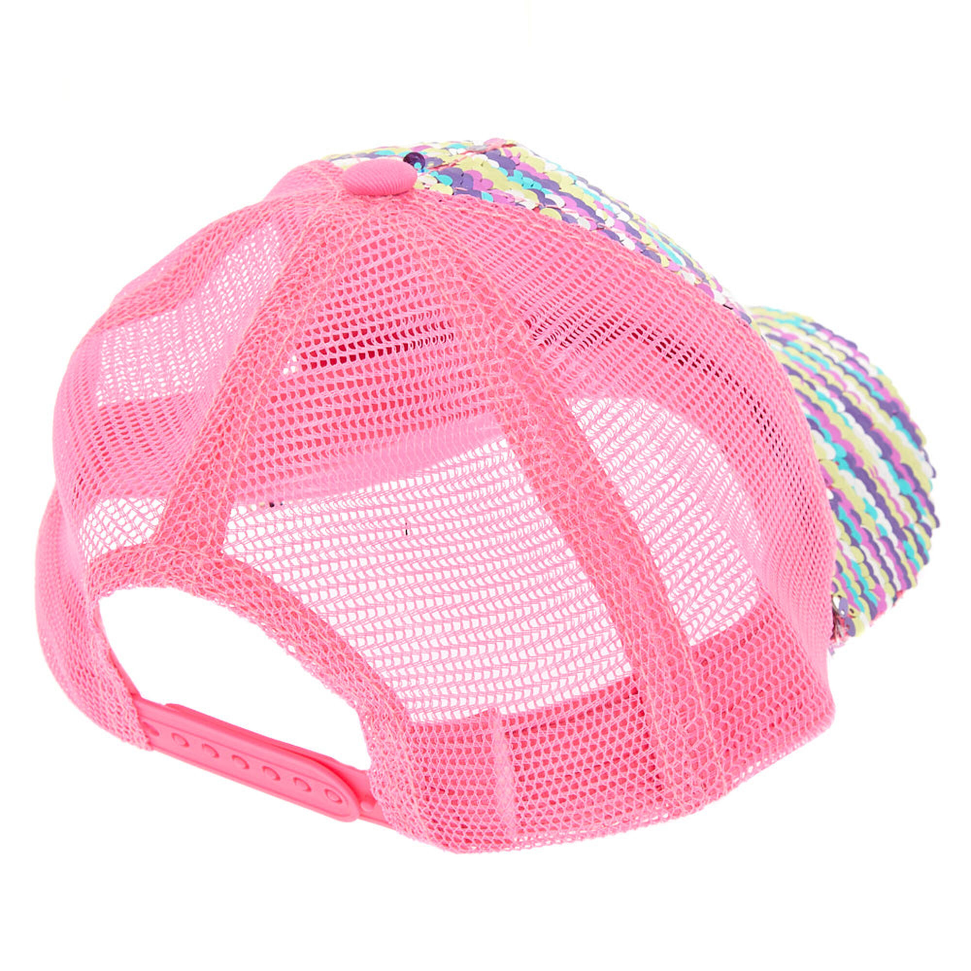 4002db9a0 Rainbow Reversible Sequin Trucker Hat | Claire's US
