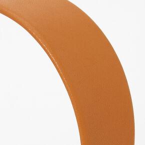 PU Wide Headband - Tan,