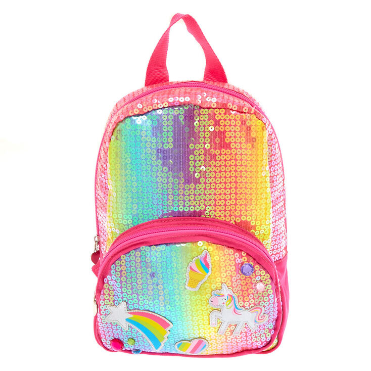 Kids Rainbow Unicorn Sequin Backpack