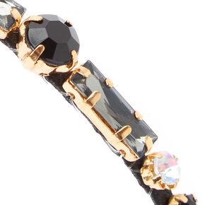 Rhinestone Studded Headband - Black,