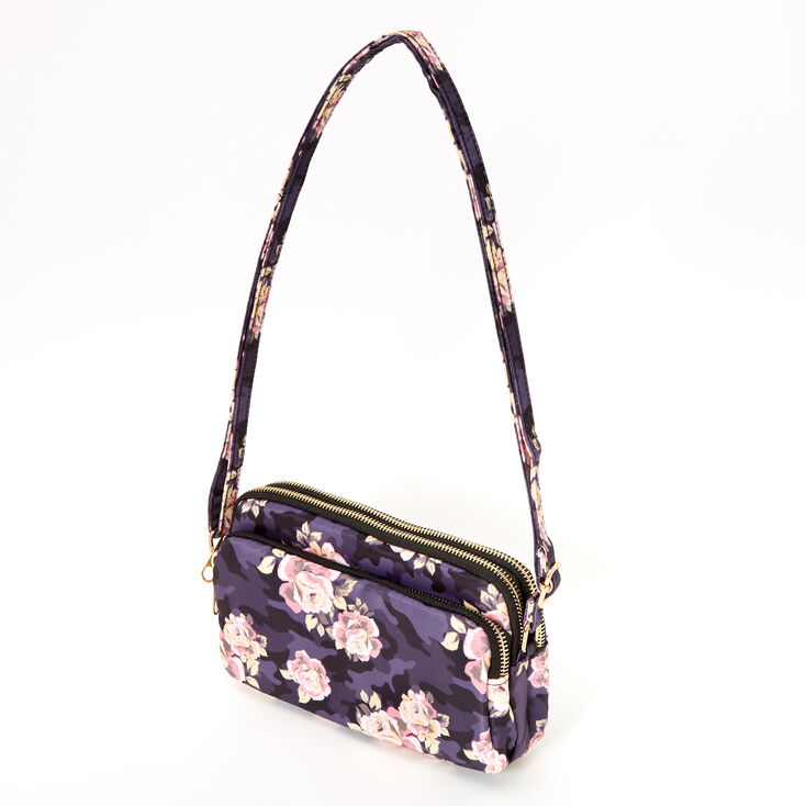 Floral Camo Classic Rectangle Crossbody Bag,
