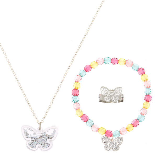 Claire's - club pastel butterfly jewelry set - 1