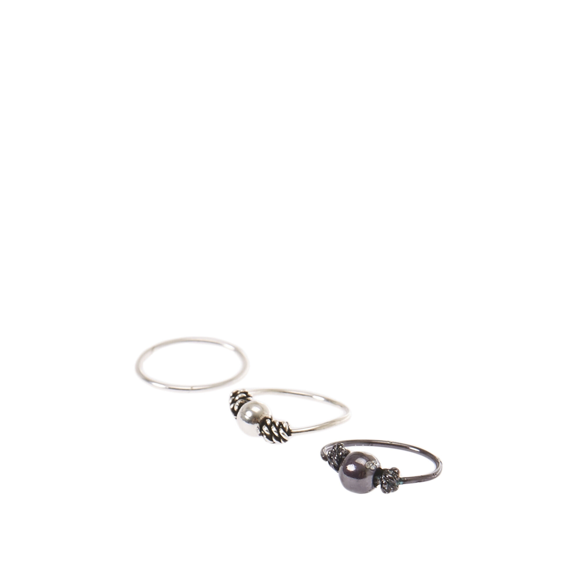 Sterling Silver Mixed Metal Nose Rings 3 Pack Claire S