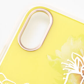 Yellow Floral Phone Case - Fits iPhone XR,