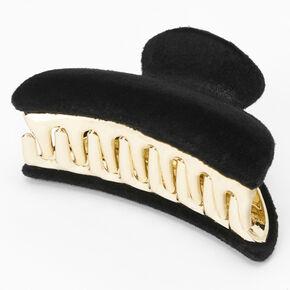 Velvet Hair Claw - Black,