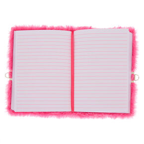 Miss Glitter the Unicorn Plush Lock Diary - Pink,