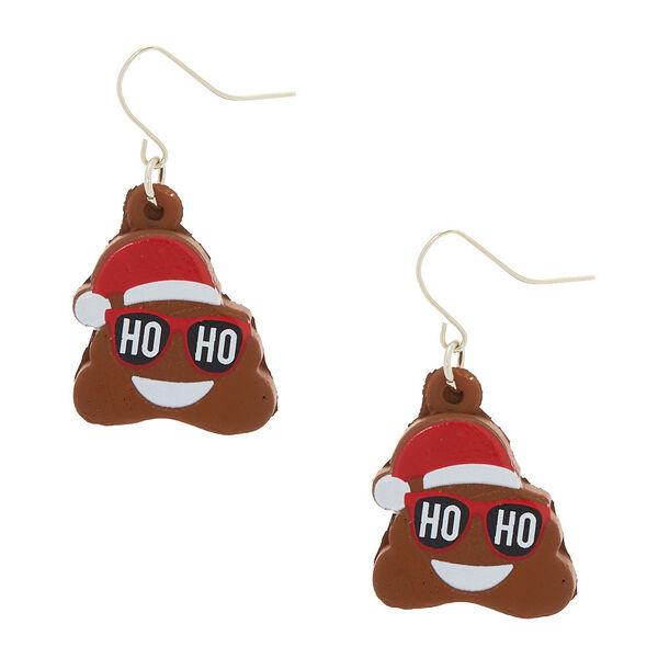 Claire's - poo emoji squish drop earrings - 1