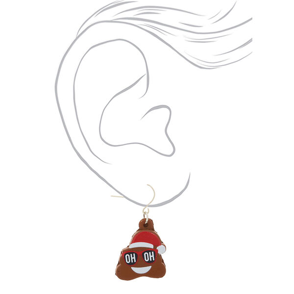 Claire's - poo emoji squish drop earrings - 2