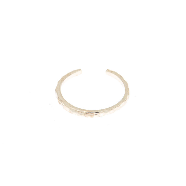 Sterling Silver Textured Toe Ring,