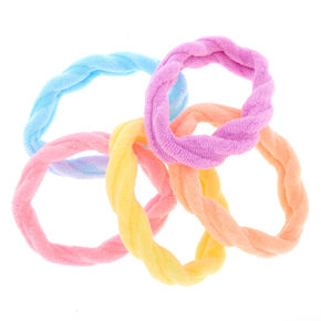 Pastel Twisted Hair Ties - 5 Pack,