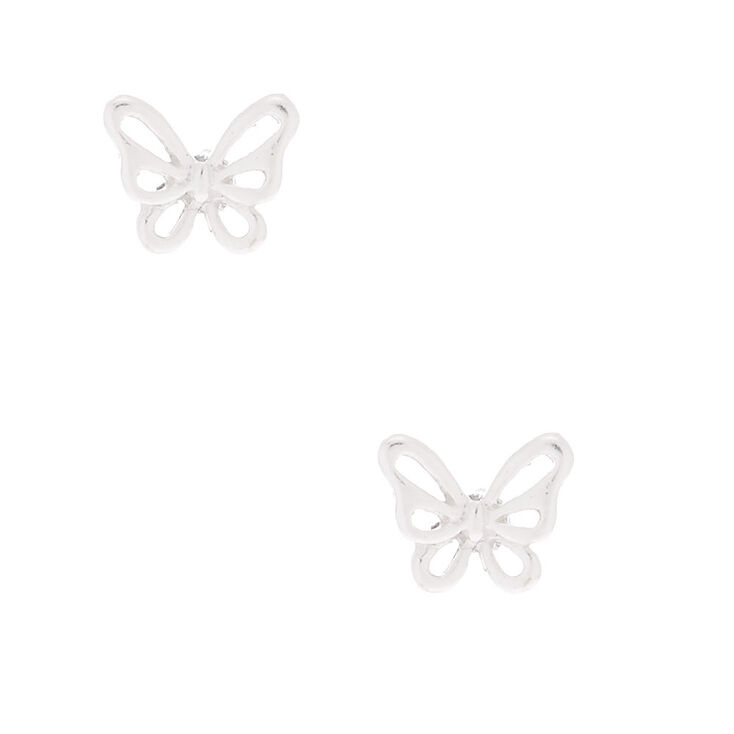 Sterling Silver Butterfly Stud Earrings,