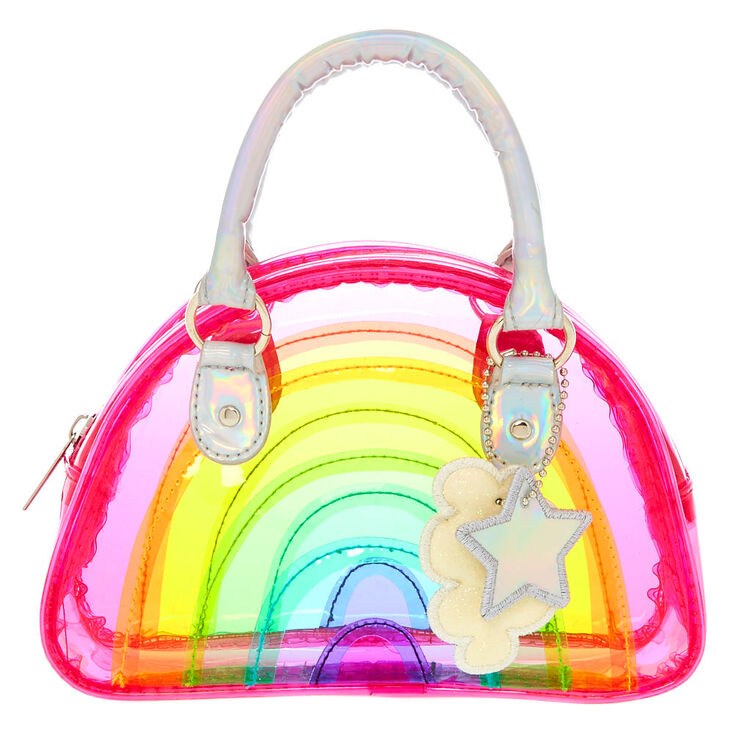 Kids Clear Rainbow Purse
