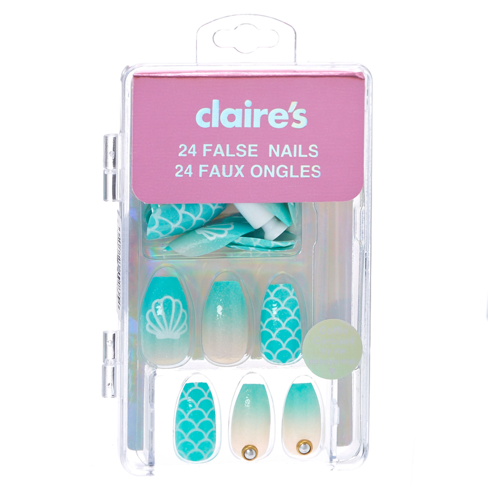 Mermaid Coffin False Nails | Claire\'s US