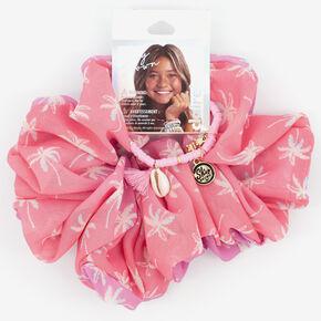 Bracelet et chouchou XL palmier Sky Brown™ – Rose, lot de 2,
