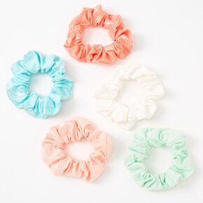 Metallic Pineapple Pastel Hair Scrunchies - 5 Pack,