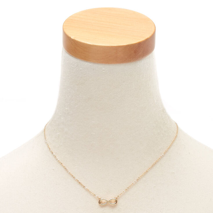 Gold Infinity Pendant Necklace,