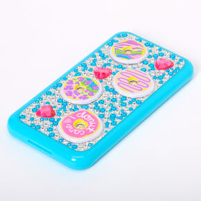 I Donut Care Cell Phone Bling Makeup Set - Turquoise,