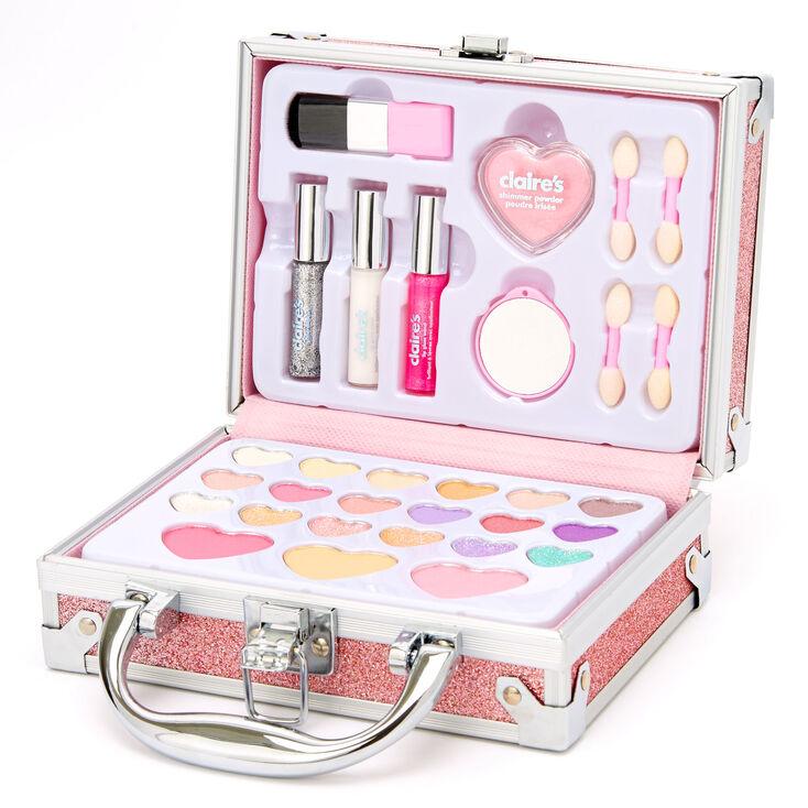 Glitter Travel Case Makeup Set - Pink,