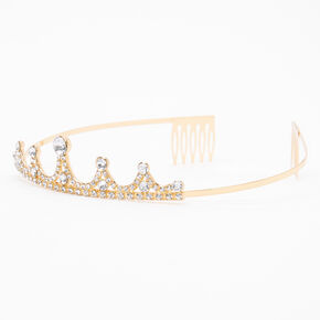 Claire's Club Gold Rhinestone Princess Tiara,