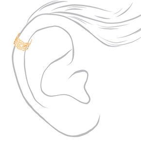 Mixed Metal Filigree Ear Cuffs 3 Pack