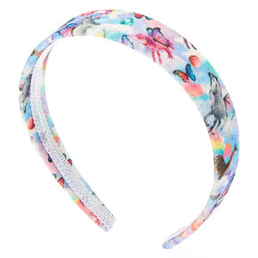 Glitter Butterfly Unicorn Headband,
