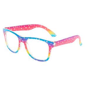Claire's Club Rainbow Star Retro Clear Lens Frames,