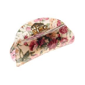 Classic Floral Hair Claw - Cream,
